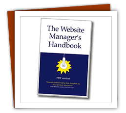 A photo of web manager's handbook
