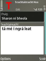 Teacs as Gaeilge